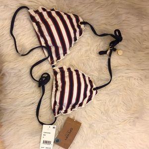 💥SPERRY NAUTICAL striped naval bikini top NWT